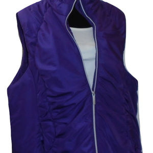 Lane Bryant Purple Puffer Sleeveless Vest Plus SZ